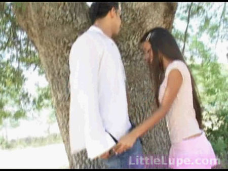 Hot fuck in the woods - a mulatto female student