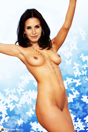 Porno photos (fakes) of Courtney Cox, American actress.