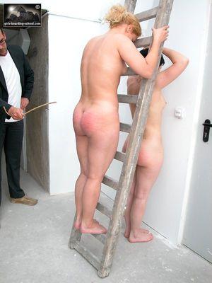 Disobedient girl spank
