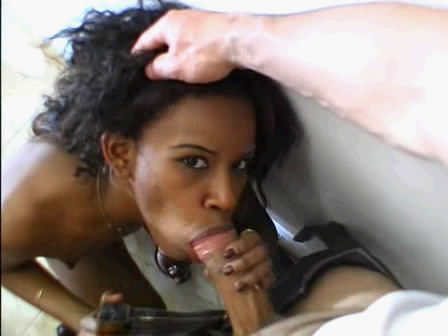 Hard fucked black girl on tonsils