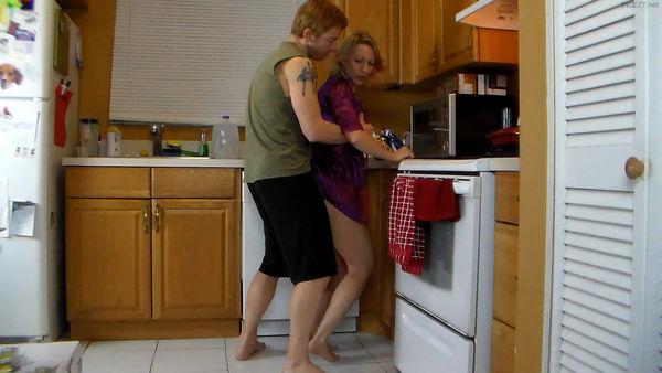 kitchen sex in a robe
