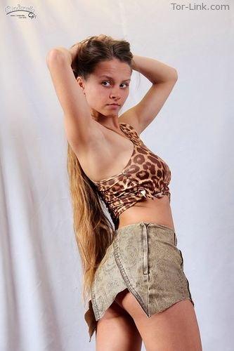 Cinderella-Girl set 493 Leopard Top