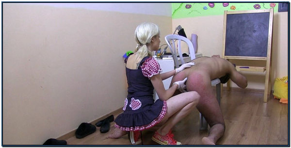 Making My Slave Take A Strapon Female Domination