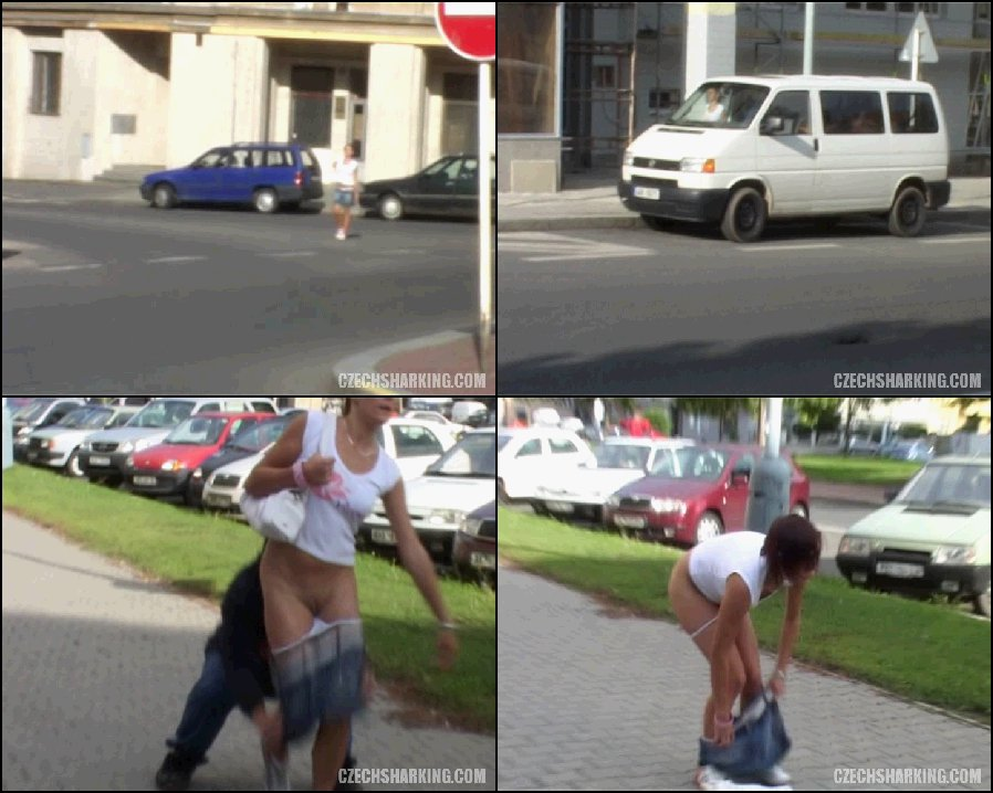 Porn on the street - girls naked on the street