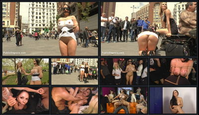 Public Disgrace - May 1, 2015 - Mona Wales, Marta La Croft and Xavi Tralla