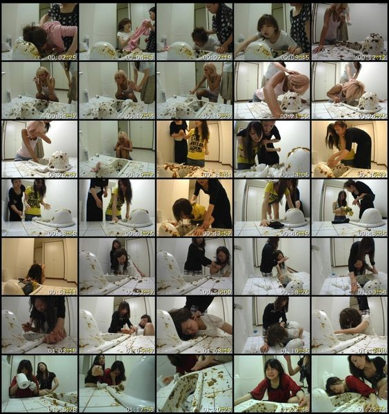 LHBY-092 Mother Daughter Forced To Clean Toilet Asian Scat Scat