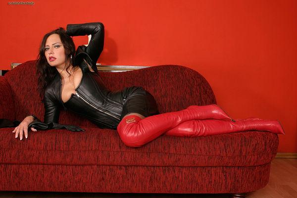 Latex leather fetish
