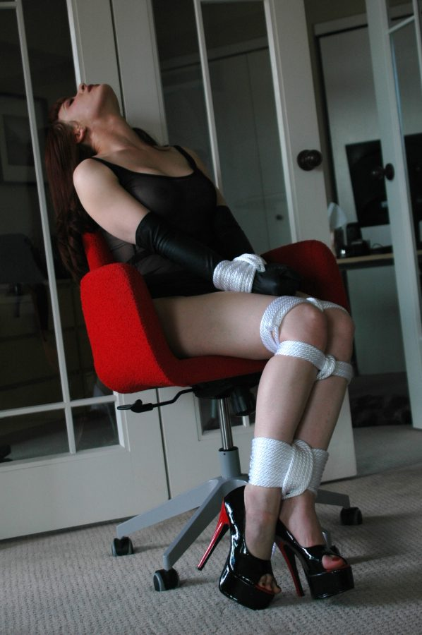 handcuff bondage pantyhose