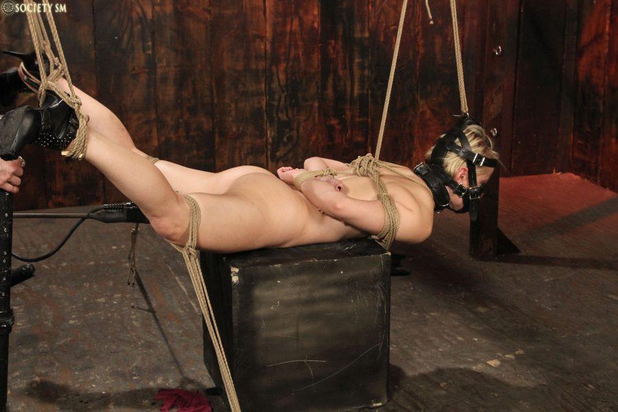 Cock milking in bondage