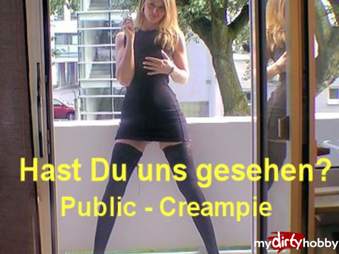 Have you seen us Public - Creampie Fick on the balcony ...