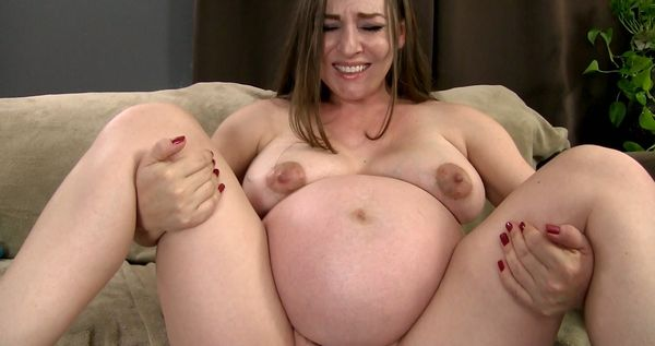 Pregnant Baby Handjob Her Own Breasty 1