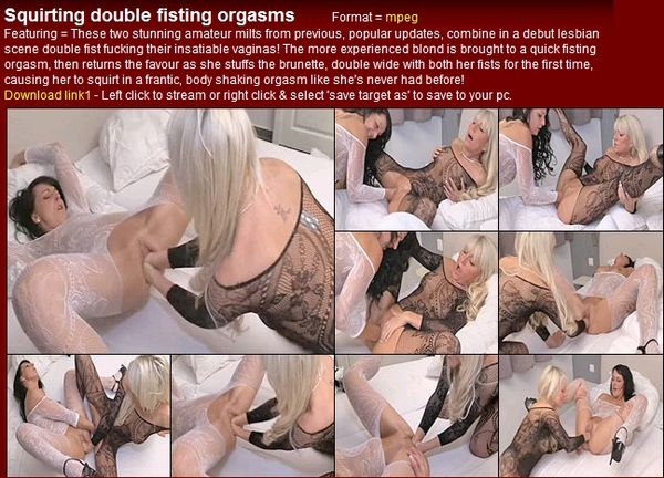 Lesbian Huge Tits Double Dildo